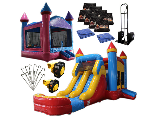 Bounce House Startup Package Square, Water Slide Combo #9 Commercial Grade