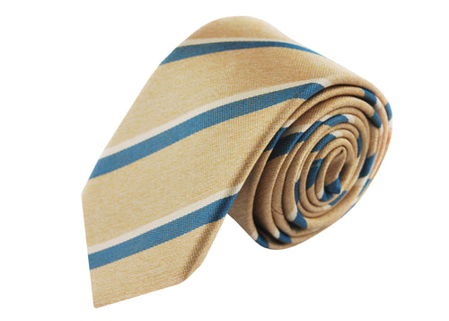 3 folds Mogador beige tie jacquard - Cambridge