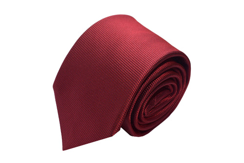 3 folds red tie jacquard - Corby