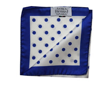 Polka dots Pocket Square blue - Gallipoli