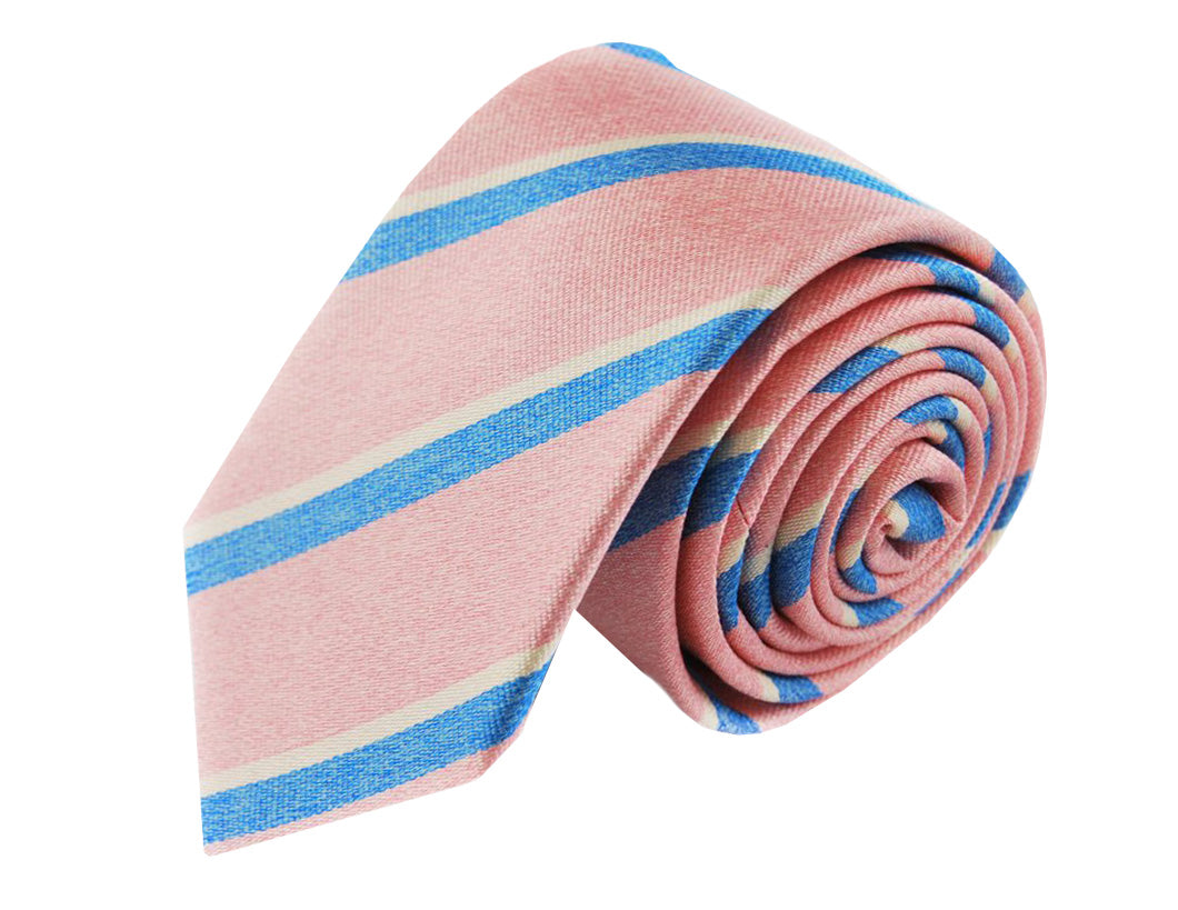 3 folds Mogador pink tie jacquard - Cambridge