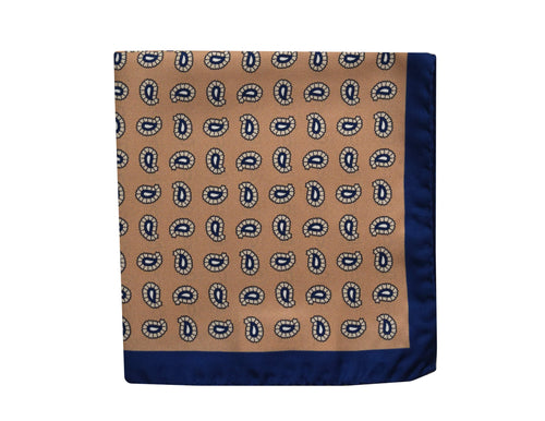 Paisley beige Pocket Square - Ragusa