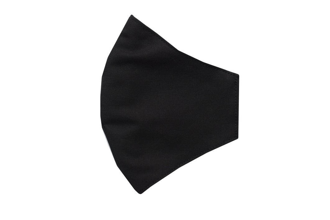 Cotton face shell black mask