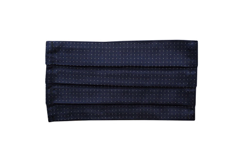 Silk micro dots navy jacquard face mask