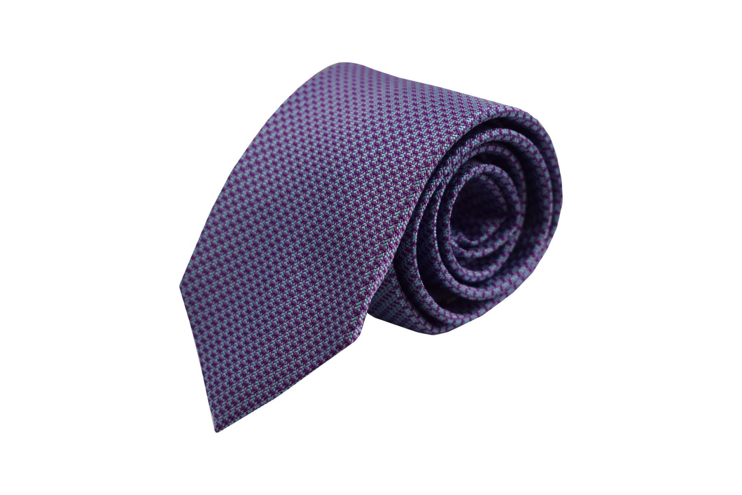 3 folds classic purple tie jacquard - Mayfair