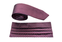 Set of silk classic small tie and silk face mask