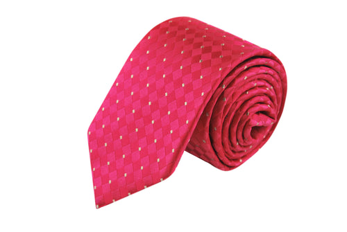 Classic Salmon 3 folds tie jacquard - Paceco