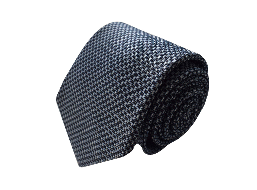 3 folds classic navy tie jacquard - Mayfair