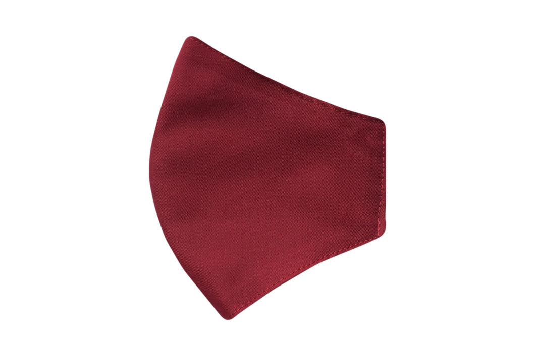 Cotton face shell burgundy mask