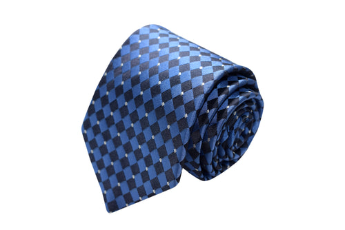 3 folds blue tie Jacquard - Paceco