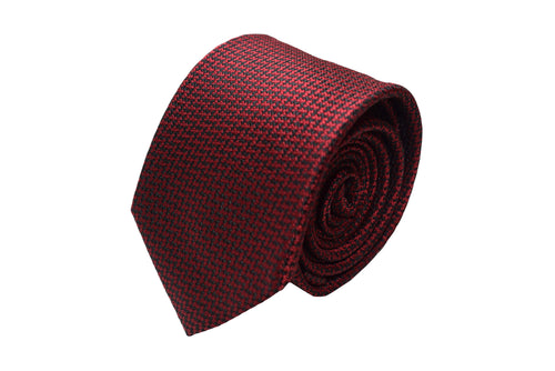 3 folds red tie Jacquard - Enge