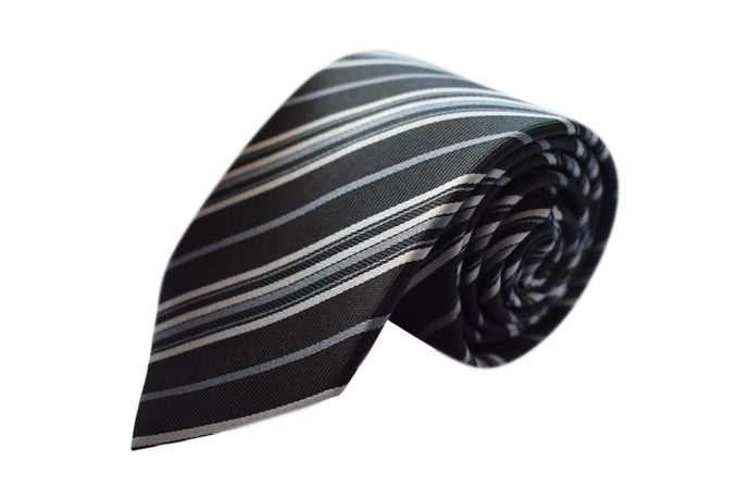 Striped 3 folds tie jacquard - Novara