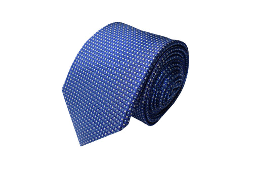 3 folds blue classic tie jacquard - Kettering