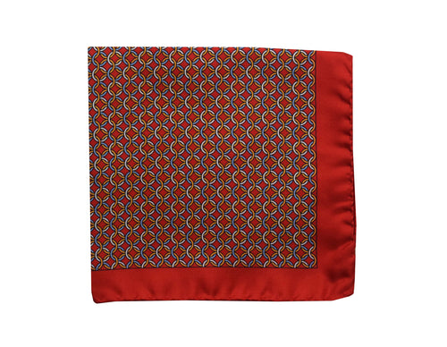 Heraldry Red Pocket Square