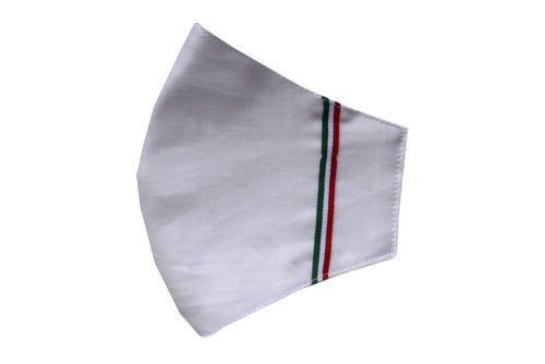 Set 5 Cotton face shell masks bianco tricolore