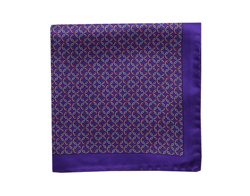 Heraldry Purple Pocket Square