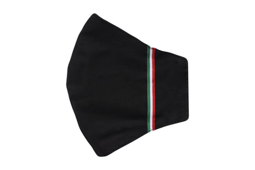 Set 5 Cotton face shell nero tricolore masks