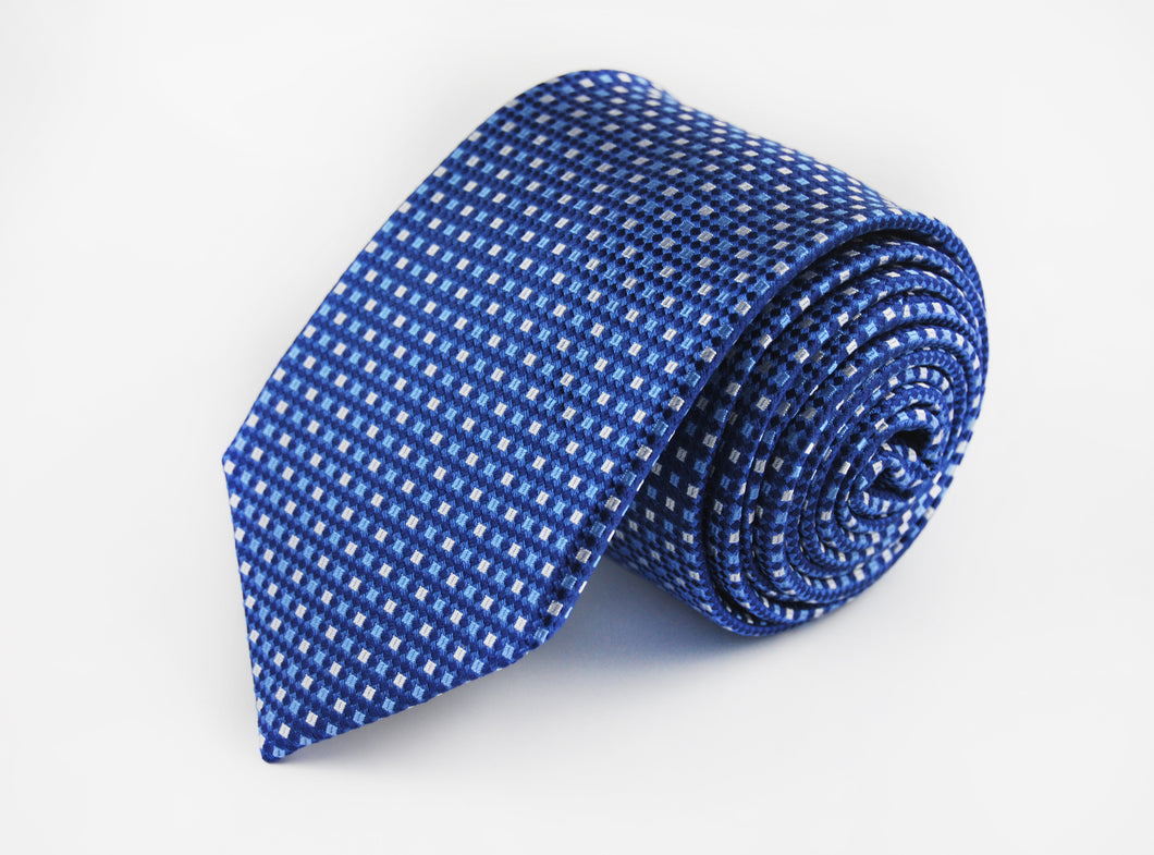 Classic Blue 3 folds tie jacquard - Arese - Antica Seteria Comasca, Cravatta - Antica Seteria Comasca, Antica Seteria Comasca - Antica Seteria Comasca, seteriacomasca - Antica Seteria Comasca