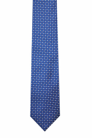 Classic Blue 3 folds tie jacquard - Arese