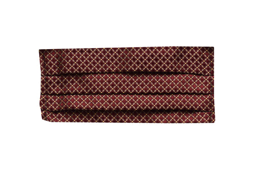 Silk jacquard geometric burgundy face mask
