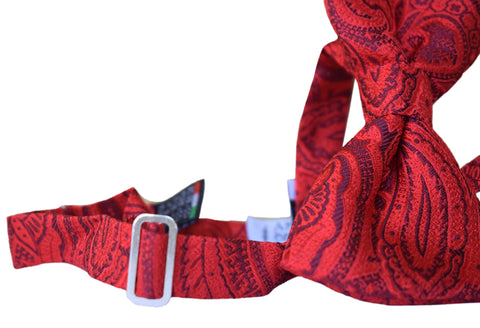 Image of Paisley Bow tie red - Scicli