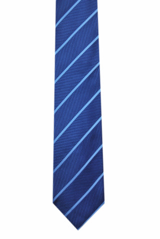 Striped Blue 3 folds tie jacquard - Solbiate - Antica Seteria Comasca, Cravatta - Antica Seteria Comasca, Antica Seteria Comasca - Antica Seteria Comasca, seteriacomasca - Antica Seteria Comasca