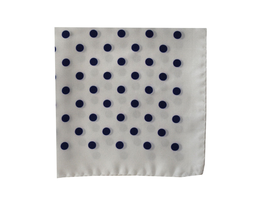 Polkadots white Pocket Square - Gallipoli