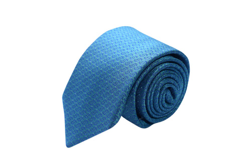3 folds light blue tie jacquard - San blas