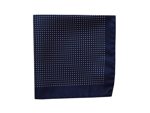 Micro dots Pocket Square Navy - Amalfi