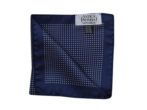 Image of Micro dots Pocket Square Navy - Amalfi