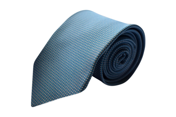 3 folds classic light blue tie - Enfield