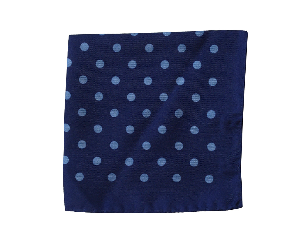 Polkadots blue Pocket Square - Gallipoli