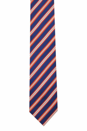 Striped Blue 3 folds tie jacquard - Aosta