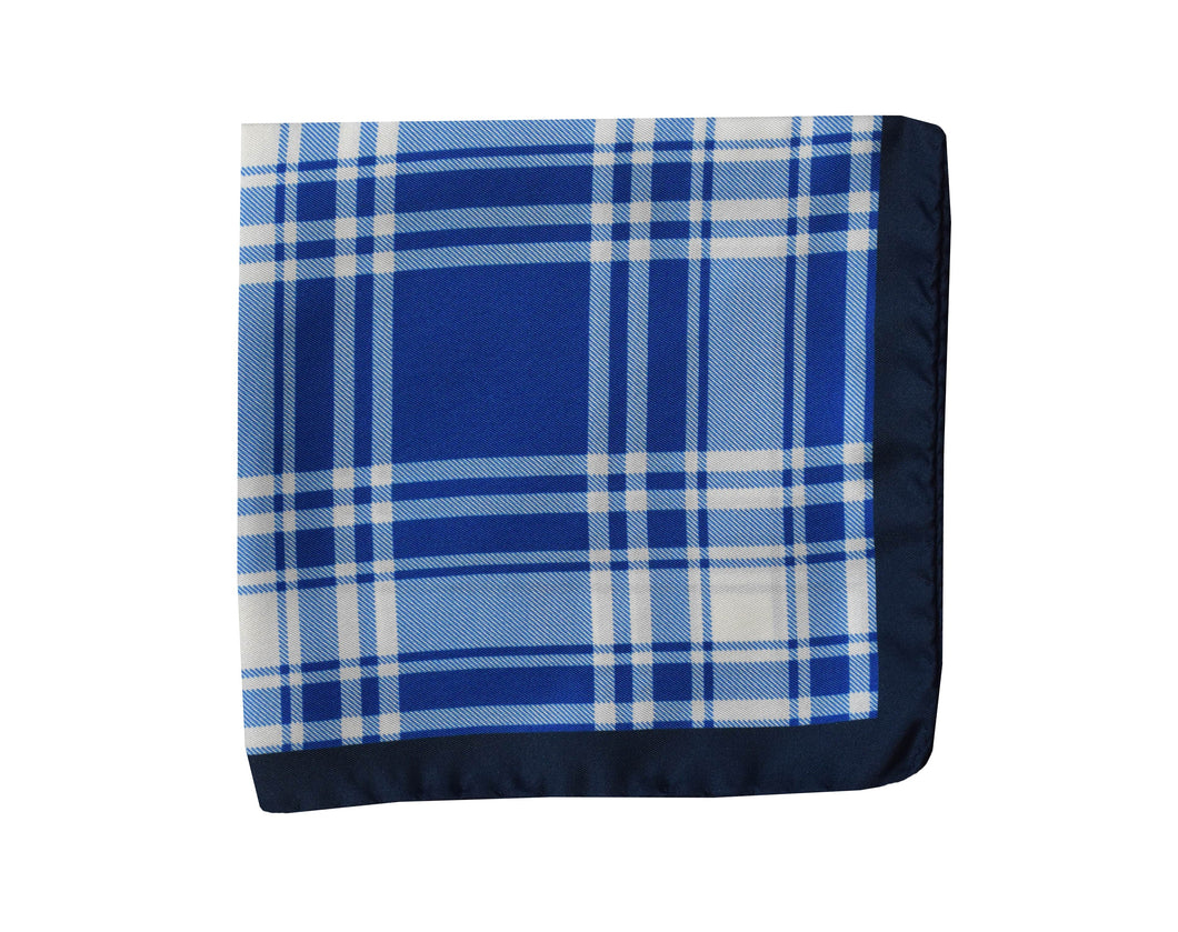 Tartan light blue Pocket Square - Isola