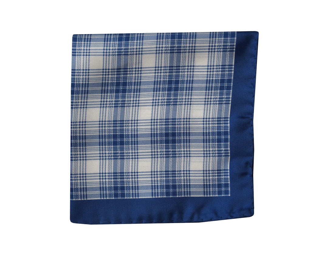 Tartan blue Pocket Square - Edimburgo