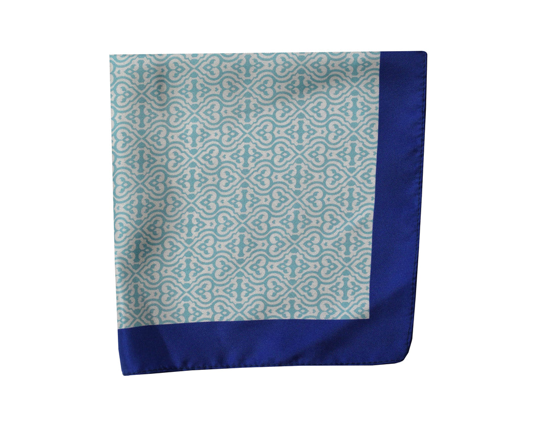 Geometric light blue Pocket Square - Acate