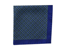 Heraldly blue Pocket Square