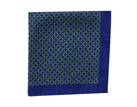 Image of Heraldly blue Pocket Square