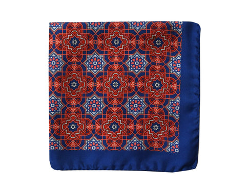 Image of Medallion red Pocket Square - Augusta