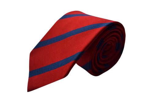 3 folds regimental red tie - Nizza
