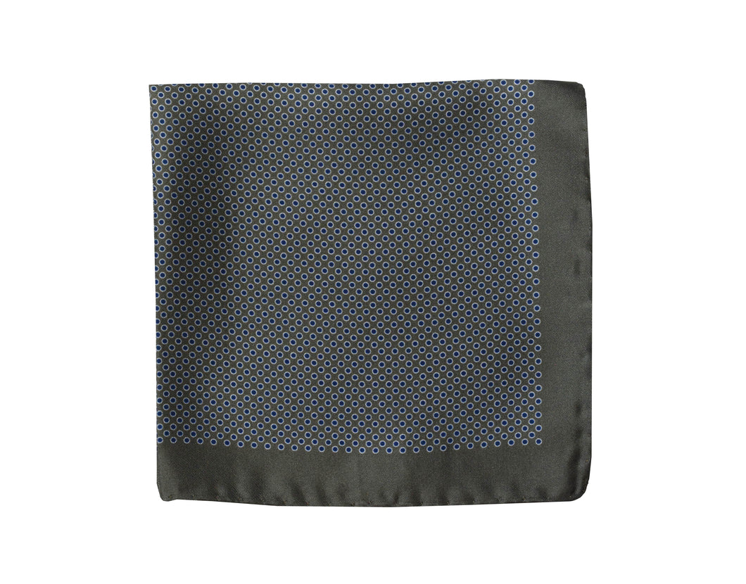 Polkadots grey Pocket Square - Zugo