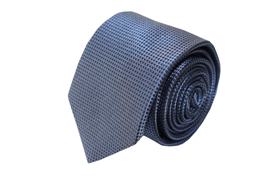 3 folds light blue tie jacquard - Diamond
