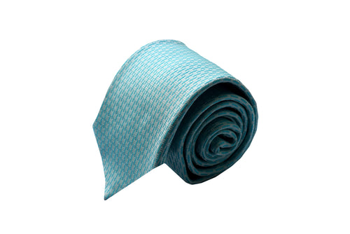 3 folds light blue tie jacquard - Montpellier