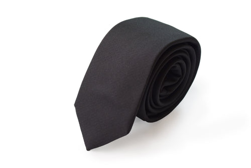 Slim 3 folds satin grey tie jacquard - Roma