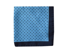 Polkadots light blue Pocket Square - Brighton