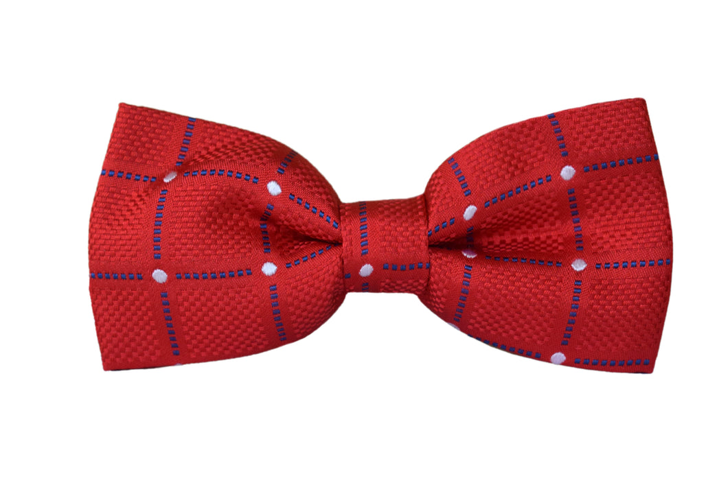 Check Pretied Bow tie red - Isola bella