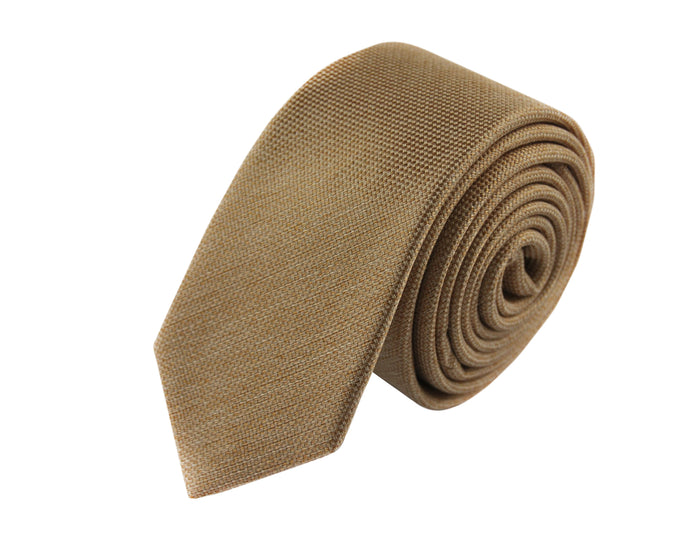 Slim 3 folds Mogador brown tie jacquard - Oxford