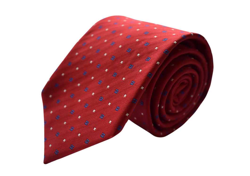 Classic 3 folds red tie jacquard - Plymounth