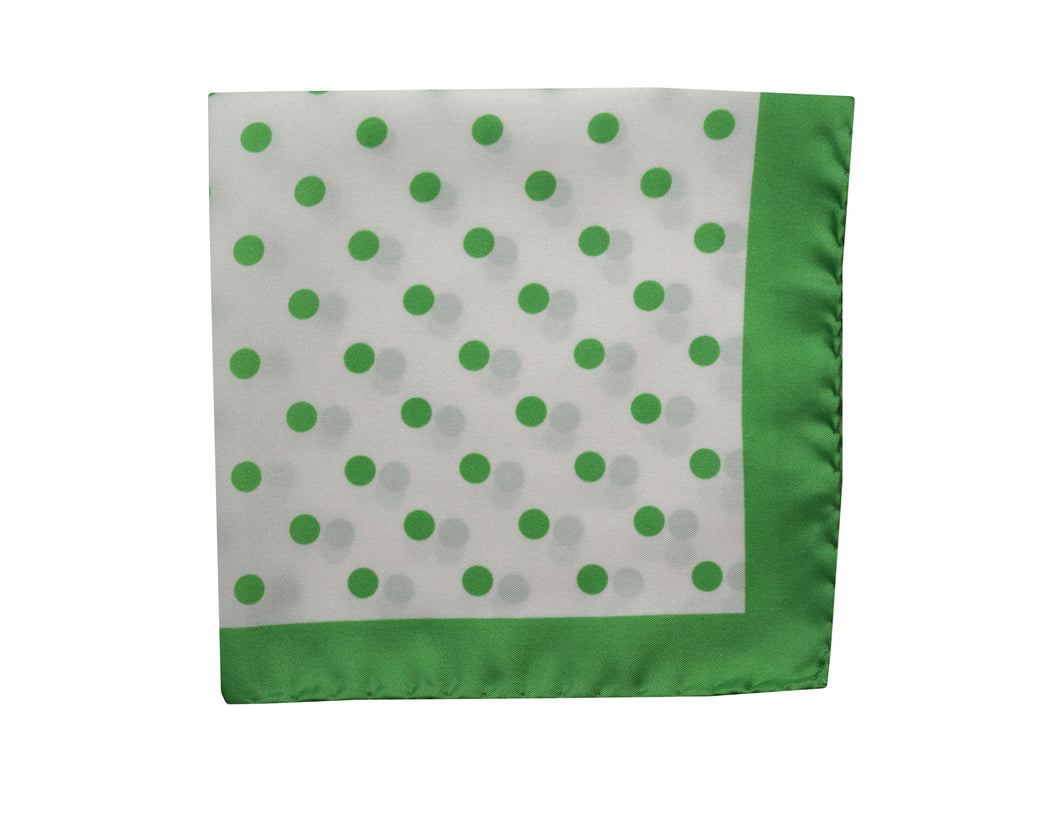 Polka dots Pocket Square green - Gallipoli