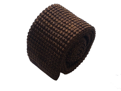 Brown knitted tie - Domaso - Antica Seteria Comasca, Cravatta - Antica Seteria Comasca, Antica Seteria Comasca - Antica Seteria Comasca, seteriacomasca - Antica Seteria Comasca